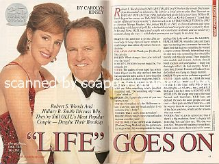 Interview with Robert S. Woods & Hillary B. Smith (Bo and Nora on One Life To Live)
