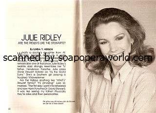 Julie Ridley (Annie Stewart Hollister, ATWT)