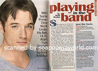 Interview with Tom Degnan (ex-Joey Buchanan on the ABC soap opera, One Life To Live)