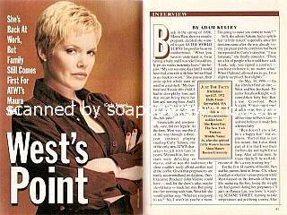 Interview with Maura West (Carly, ATWT)