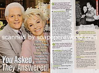 Interview with DAYS co-stars and real-life couple, Bill Hayes & Susan Seaforth Hayes (Doug and Julie on Days Of Our Lives)