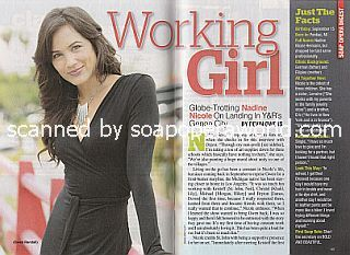 Interview with Nadine  Nicole (Nadine plays the role of Gwen on The Young and The Restless)