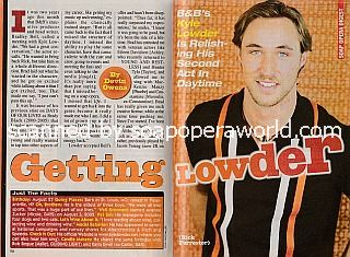 Interview with Kyle Lowder (Rick on The Bold and The Beautiful)