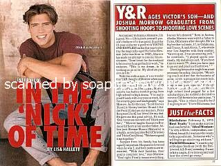 Interview with Joshua Morrow (Nicholas Newman on The Young & The Restless)