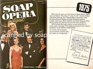Soap Opera Digest's first cover from 1975