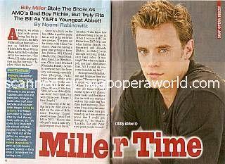 Billy Miller (Billy Abbott, Y&R)