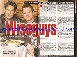 Ricky Paull Goldin & Michael Park (Gus & Jack, GL and ATWT)