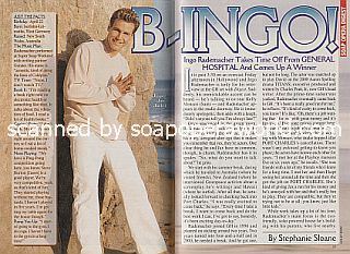 Interview with Ingo Rademacher (Jax on the ABC soap opera, General Hospital)