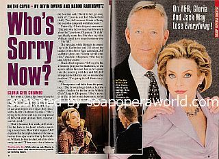 Y&R Cover Story featuring Judith Chapman and Ted Shackelford (Gloria and Jeff on The Young and The Restless)
