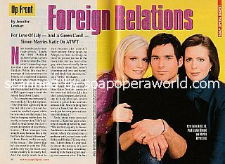 As The World Turns Cover Story featuring Terri Conn, Paul Leyden and Martha Byrne