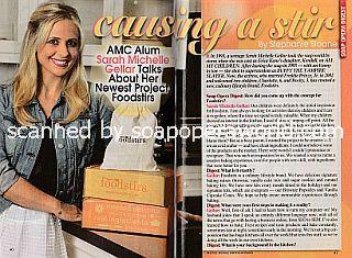 Interview with AMC alum Sarah Michelle Gellar (ex-Kendall on All My Children)