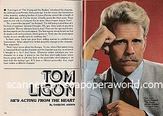 Interview with Tom Ligon (Tom plays the role of Lucas Prentiss on The Young & The Restless)