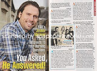Interview with Joshua Morrow (Nick on The Young and The Restless)