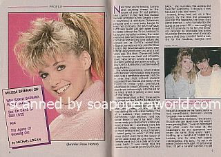 Interview with Melissa Brennan (Jennifer Rose Horton on Days Of Our Lives)