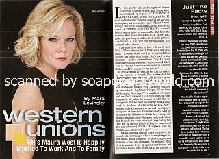 Interview with Maura West (Ava Jerome on ABC soap opera, General Hospital)