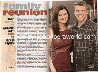 Interview with soap stars and real-life siblings, Heather Tom and David Tom