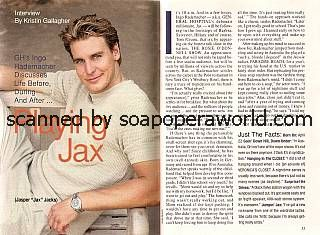 Ingo Rademacher played the role of Jax on General Hospital