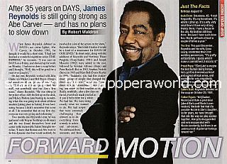 Interview with James Reynolds (Abe Carver on Days Of Our Lives)