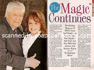 Interview with John Aniston & Suzanne Rogers (Victor and Maggie on Days Of Our Lives)