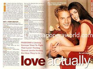 Justin Hartley & Lindsay Korman (Fox & Theresa, PASSIONS)