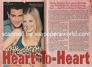 Interview with Jesse Metcalfe and Molly Stanton (Miguel and Charity on the soap opera, Passions)