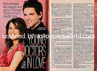 Interview with Jason Thompson and Kimberly McCullough (Patrick and Robin on General Hospital)