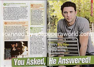 Interview with Billy Flynn (Billy plays the role of Chad on Days Of Our Lives)