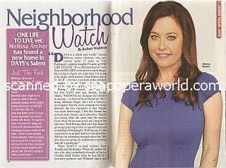 Interview with Melissa Archer (Melissa plays Serena Mason on Days Of Our Lives)
