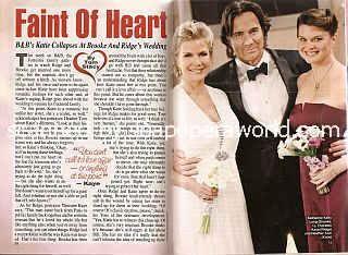 The Bold & The Beautiful cover story featuring Katherine Kelly Lang, Thorsten Kaye & Heather Tom (Brooke, Ridge and Katie)