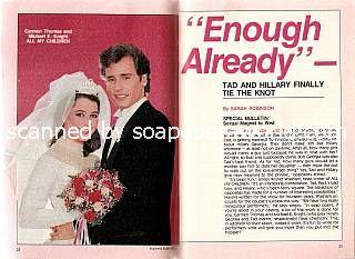 Michael E. Knight & Carmen Thomas (Tad & Hillary, AMC)