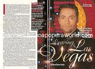 Interview with Kamar de los Reyes (Antonio Vega on One Life To Live)