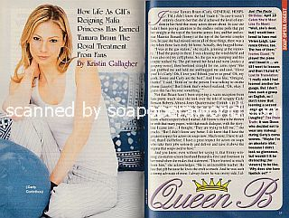 Interview with Tamara Braun (Carly on the ABC soap opera, General Hospital)