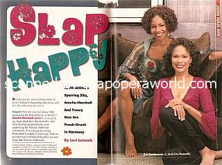 Amelia Marshall & Tracey Ross (Liz & Eve on PASSIONS)