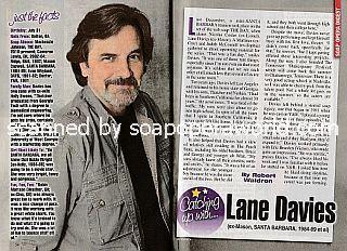 Catching Up With Lane Davies (Mason on the soap opera, Santa Barbara)