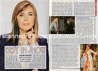 Interview with Lauren Koslow (Kate on Days Of Our Lives)