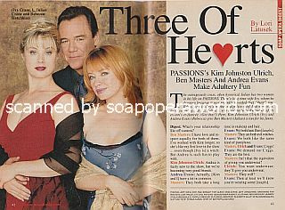 Interview with Ben Masters, Kim Johnston Ulrich and Andrea Evans (Julian, Ivy and Rebecca on the soap opera, Passions)