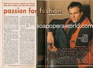 Interview with Cameron Mathison </b>(Ryan on All My Children)