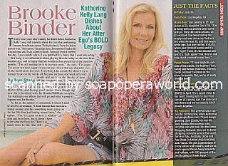 Interview with Katherine Kelly Lang (Brooke on CBS soap opera, The Bold and The Beautiful)