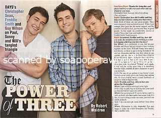 Roundtable Interview with Christopher Sean, Freddie Smith & Guy Wilson (Paul, Sonny and Will on Days Of Our Lives)