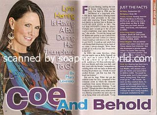 Interview with Lynn Herring (Lucy Coe on General Hospital)