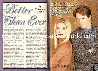 Interview with Matthew Ashford & Melissa Reeves (Jack & Jennifer on Days Of Our Lives)