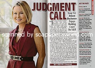 Interview with Jensen Buchanan (Jensen plays judge Elise Moxley on The Young and The Restless)