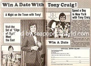 Win A Date With Tony Craig