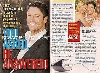 Interview with James Scott (EJ DiMera on Days Of Our Lives)