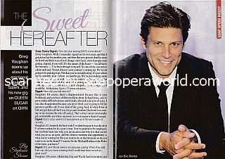 Interview with Greg Vaughan (ex-Eric on Days Of Our Lives)