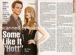 Interview with Darin Brooks & Kim Matula (Wyatt and Hope on the soap opera, The Bold & The Beautiful)