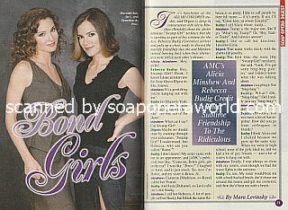 Interview with Alicia Minshew and Rebecca Budig (Kendall and Greenlee on All My Children)