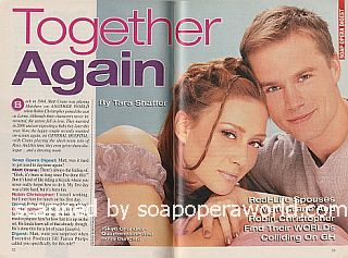 Interview with real-life soap couple, Matt Crane and Robin Christopher