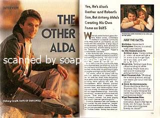 Interview with Antony Alda (Johnny Corelli on Days Of Our Lives)