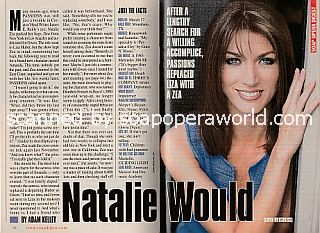 Interview with Natalie Zea (Gwen on the NBC soap opera, Passions)